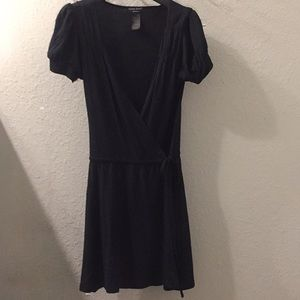 Guess Jeans wraparound little black dress